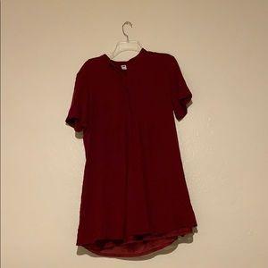 Burgundy professional dress